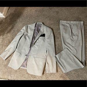 Light Grey Men Large Suit 34x32 Pants Classic Fit